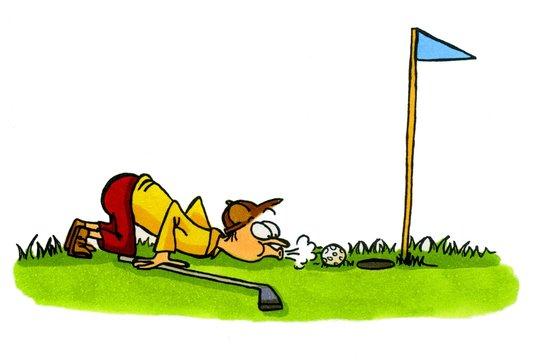 Golf Cartoons Serie Bild 4