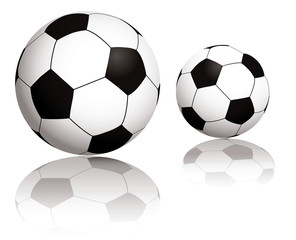 Illustration of two balls with reflection