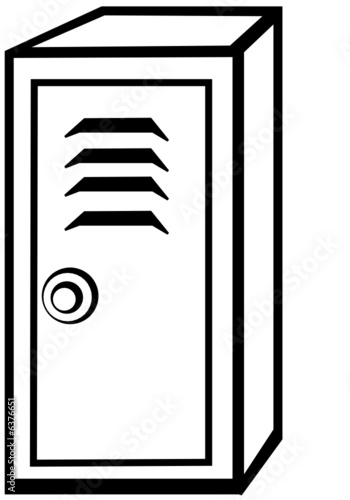 black and white locker stock image and royalty free vector files on rh us fotolia com locker clipart locker clipart free