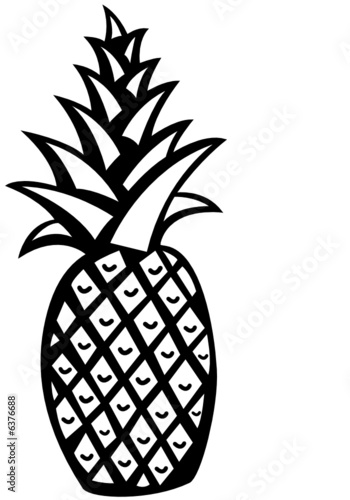 """""""black and white pineapple"""" Stock image and royalty-free ..."""