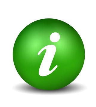 Information Symbol - green