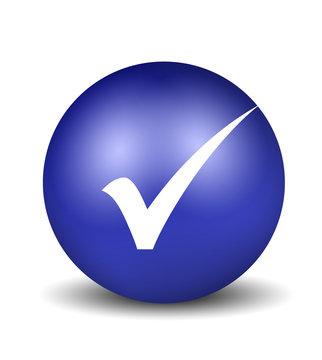 Check Symbol - blue