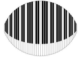 warped piano keys