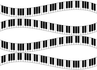 curvy piano keys