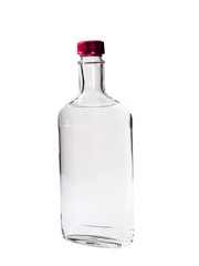 Vodka isolated on a white background.