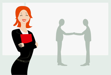 vector image of agreement conception