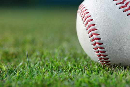 Baseball on the field