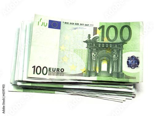 liasse de billets 100 euros sur fond blanc photo libre de droits sur la banque d 39 images. Black Bedroom Furniture Sets. Home Design Ideas