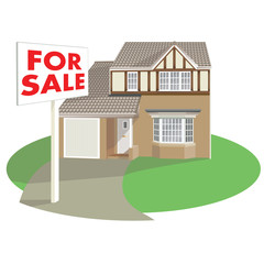 detached house with for sale board