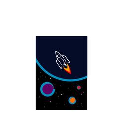 Space ship rocket illustration