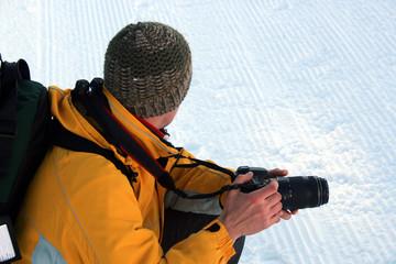 fotografo sulla neve