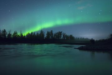 Aurora Borealis over the river