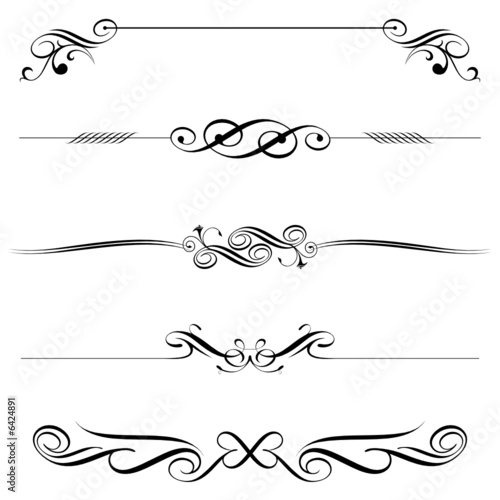 vector file of horizontal elements decoration design. Black Bedroom Furniture Sets. Home Design Ideas