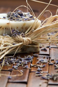 Natural lavender soap and lavender seeds