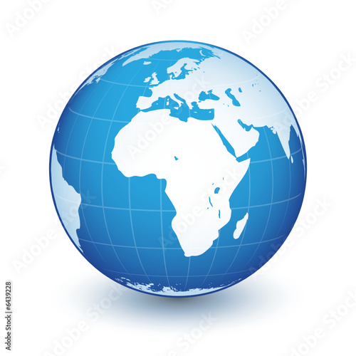 Planète Terre Bleue Fichier Vectoriel Libre De Droits Sur La Banque