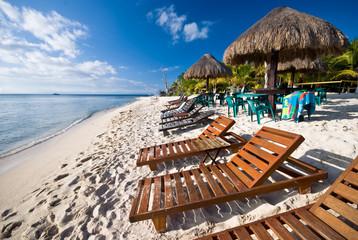 Beach on the Mexican Caribbean