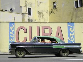 Garden Poster Cars from Cuba Kuba Wand