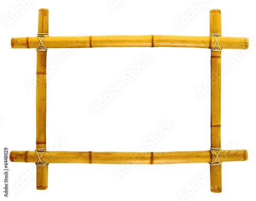 Cadre de tableau en bambou photo libre de droits sur la - Baguette d encadrement pour tableaux ...