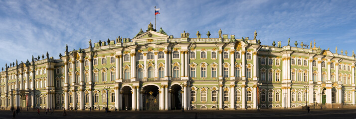 Panorama of the Winter palace in St.-Petersburg