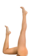 Woman legs on  isolated background