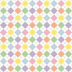 Pastel Rainbow Argyle Pattern