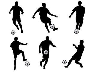 fussball silhouetten