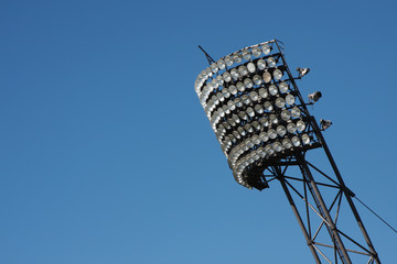 A photography of a light panel at the olympic stadion in munich