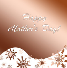 Congratulation on day of mother. A card.