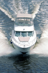 White motor boat
