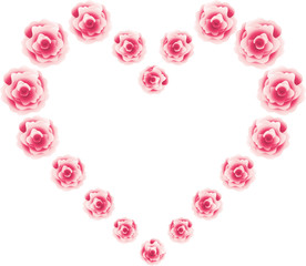 Hearts from roses