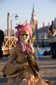 Lady in venetian mask