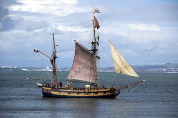 sailing ship in the San Francisco Bay
