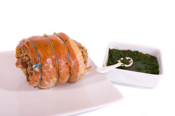 Roast Lamb and Mint Sauce