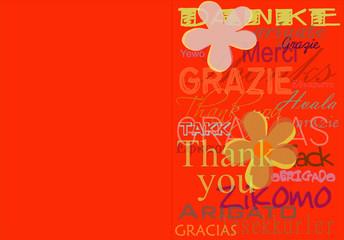 Multilanguage thank you card