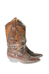 cowgirl boots isolated on white background