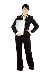 Businesswoman and laptop