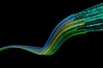Optical wires data flow