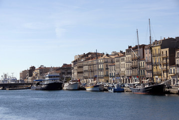 harbor of Sete (Languedoc Roussillon)