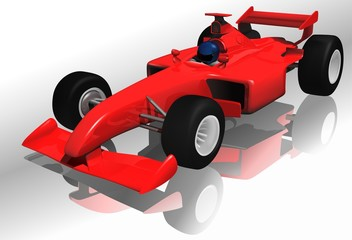 Foto auf AluDibond Autos Ferrari F1 - highly detailed illustration