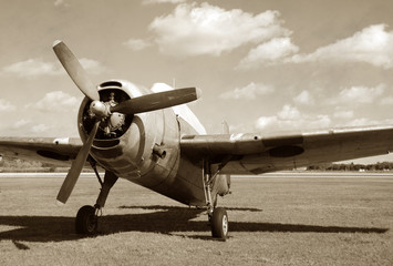 Fototapete - World War II era fighter