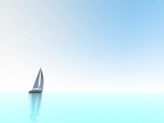 sailing vessel travelling on ocean