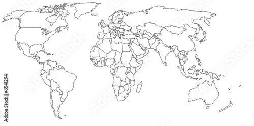 Empty world map stock photo and royalty free images on fotolia empty world map gumiabroncs Choice Image