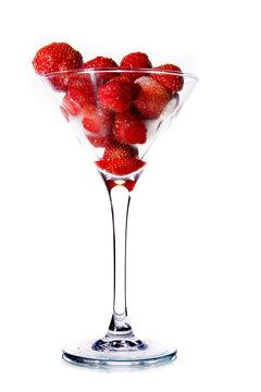 Strawberries in a martini glass