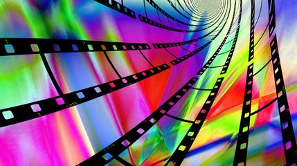 Colorful Filmstrips Swirl