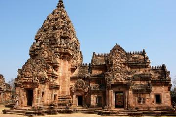 architecture et ruines khmer, phanom rung, issan, thailande