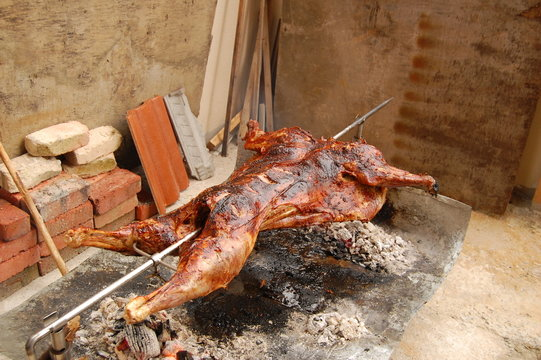 Grilled Whole Lamb