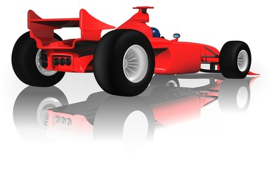 Aluminium Prints Cars Ferrari F1 from Back - illustration