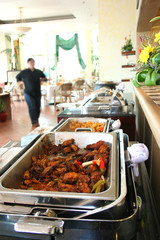 buffet at restaurant