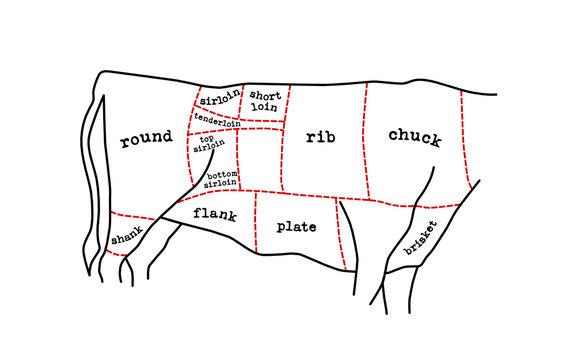 meat cuts diagram
