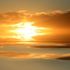 Sunset with water reflexion